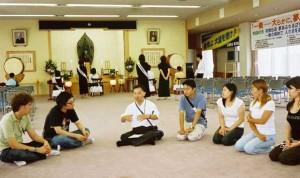 Rev.Yoshinaga explained Buddhist teachings