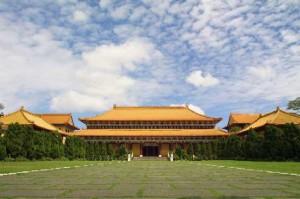 Fo Guang Shan monastery main hall