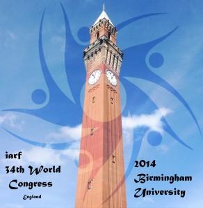 IARF Congress logo - Chamberlain clock tower, UoB rsz